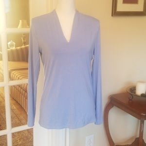 Talbots periwinkle v neck blouse Small